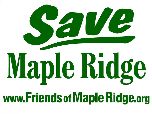 """Save Maple Ridge"" yard sign"