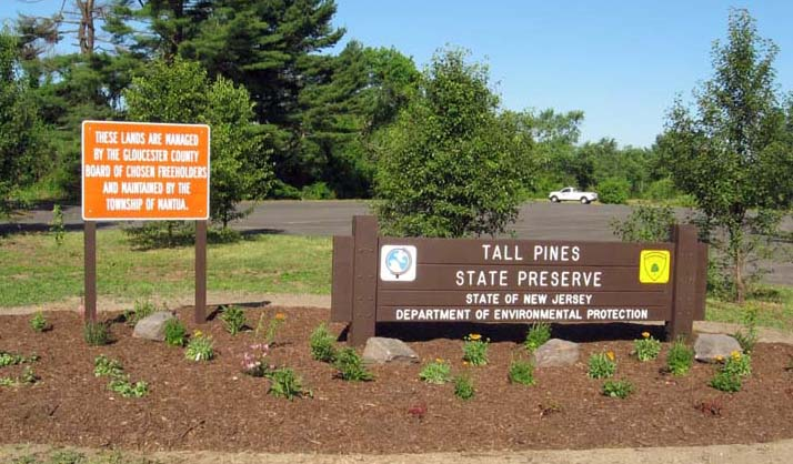 Tall Pines State Preserve main sign